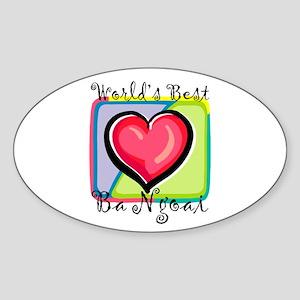 WB Grandma [Vietnamese] Oval Sticker